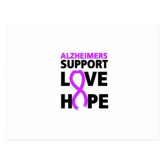 Carte Postale Amour pourpre de soutien de ruban de conscience