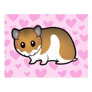 Carte Postale Amour syrien de hamster