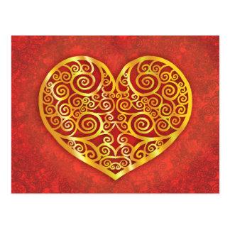 Carte Postale Amour tourbillonné