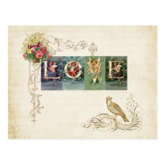 Carte Postale Amour victorien vintage
