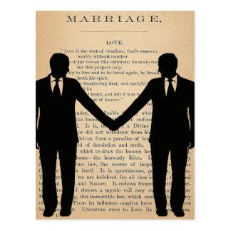 Carte Postale Amour vintage et mariage Longfellow l'épousant gai