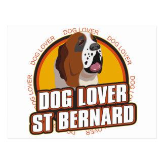 Carte Postale Amoureux des chiens de St Bernard