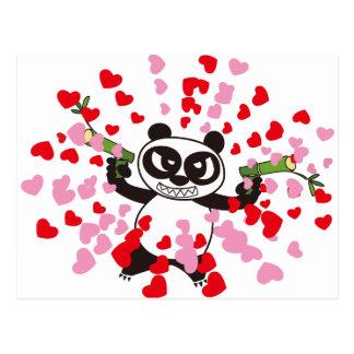 Carte Postale Amours fâchés de panda de visage