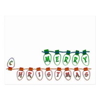 Carte Postale ampoules de Joyeux Noël
