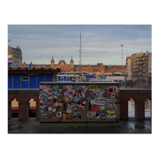 Carte Postale Amsterdam : Étiqueté