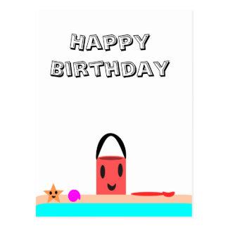 Carte Postale Amusement de plage de joyeux anniversaire