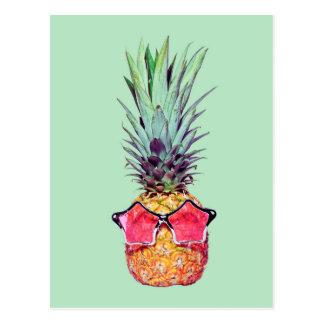 Carte Postale Ananas à la mode