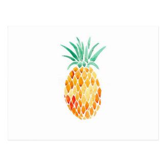 Carte Postale Ananas de couleur de l'Eau