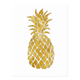 Carte Postale ananas d'or