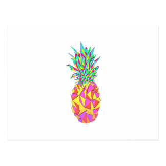 Carte Postale Ananas géométrique rose Girly de triangles
