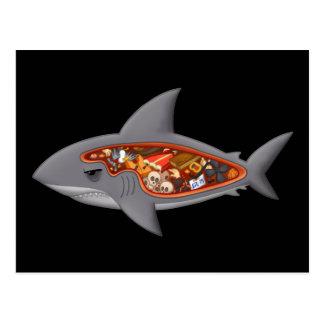 Carte Postale Anatomie de requin