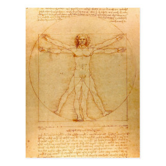 Carte Postale Anatomie humaine, homme de Vitruvian par Leonardo