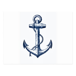 Carte Postale Ancre de bleu marine