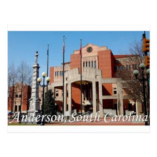 Carte Postale Anderson, la Caroline du Sud