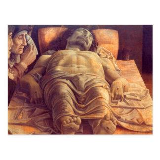 Carte Postale ANDREA MANTEGNA - lamentation du Christ 1480