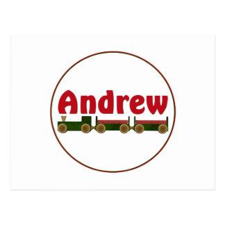 Carte Postale Andrew (train)