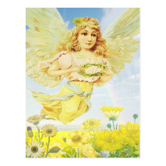 Carte Postale Ange avec la guirlande