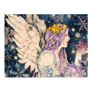 Carte Postale Ange de neige