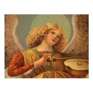 Carte Postale Ange de Noël jouant le violon Melozzo DA Forli