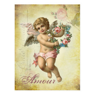 Carte Postale Ange de Valentine - intrigue amoureuse