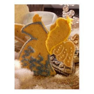 Carte Postale Ange doux de pâtisserie avec la décoration de