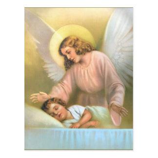 Carte Postale Ange gardien avec l'enfant