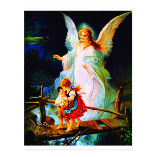 Carte Postale Ange gardien et enfants de Heiliger Schutzengel