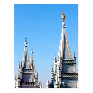 Carte Postale ange Moroni de temple de Salt Lake City de lds