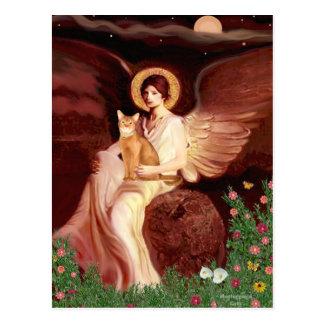 Carte Postale Ange posé - Abyssinien rouge