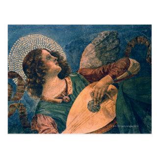 Carte Postale Ange représenté en tant que musicien par Melozzo