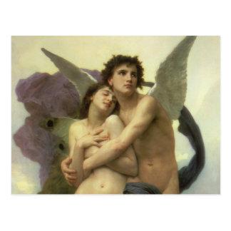 Carte Postale Ange victorien vintage, ravissement par Bouguereau