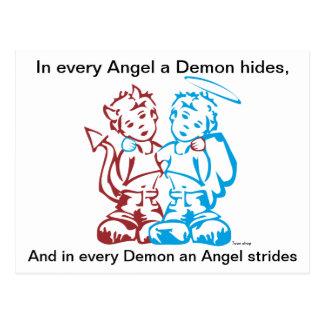 Carte Postale Angel or Demon