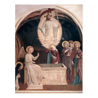 Carte Postale Angelico-Résurrection d'ATF du Christ, femmes à la