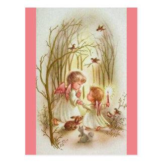 Carte Postale Anges vintages de bébé