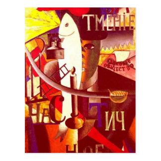Carte Postale Anglais de Kazimir Malevich- à Moscou