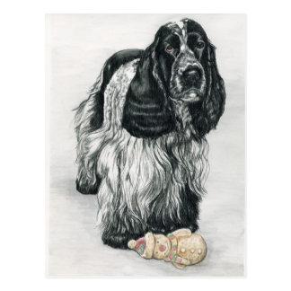 Carte postale anglaise d'art de cocker