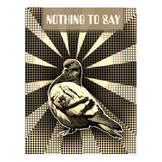 Carte Postale Angry Pigeon Postcard in a sepia vintage style