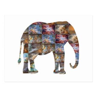 Carte Postale Animal amical majestueux : Tuiles de marbre