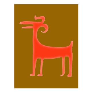 Carte Postale Animal Paläo-Indianer paleo native american animal