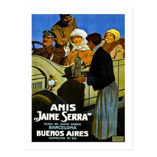 Carte Postale Anis Jaime Serra Buenos Aires - annonce vintage