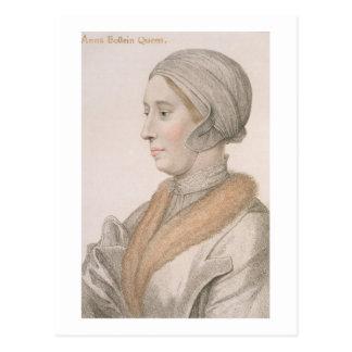 Carte Postale Anne Boleyn (1507-36) gravé par Francesco Bartol