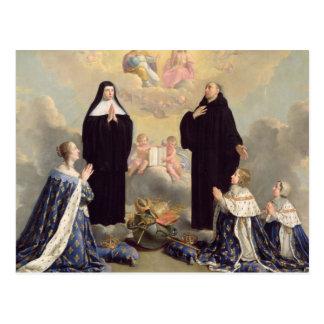 Carte Postale Anne de l'Autriche et ses enfants