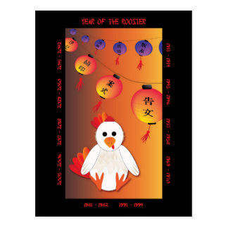 Carte Postale Année du coq