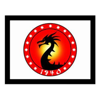 Carte Postale Année du dragon 1940