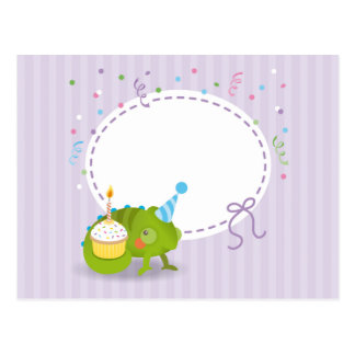 Carte Postale Anniversaire de caméléon