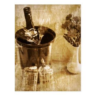 Carte Postale Anniversaire de mariage de Valentine Champagne de