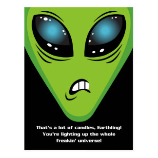 Carte Postale Anniversaire fâché d'aliens