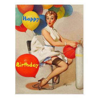 Carte Postale anniversaire, joyeux anniversaire