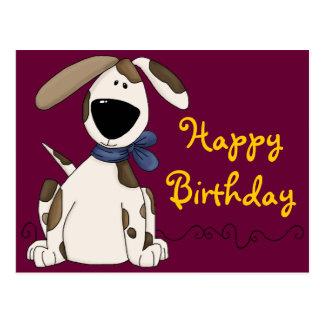 Carte Postale Anniversaire mignon de chien