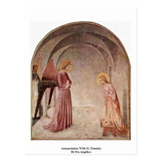 Carte Postale Annonce avec St Dominic par ATF Angelico